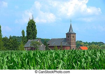 akker, koren, kerk