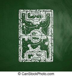 akker, spelend, pictogram