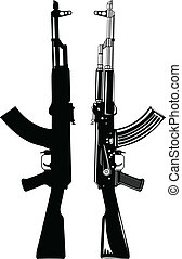 akm - Vector image of the automatic machine AK 47