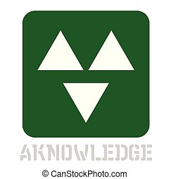 Aknowledge concept icon on white flat illustration.