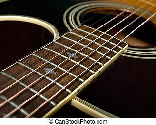 akoestische guitar, fretboard