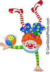 akrobat, clown