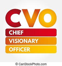 akronim, wizjonerski, -, szef, oficer, cvo