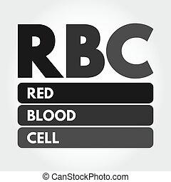 akronym, begriff, blut, rbc, rotes , zelle, -, hintergrund
