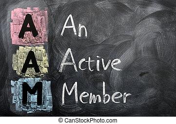 akronym, mitglied, aam, aktive