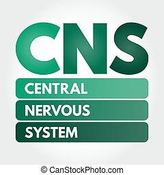 akronym, -, nervös, mellerst, cns, system