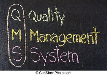 akronym, qms, management, kvalita, systém
