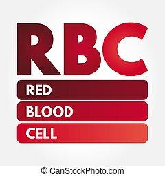 akronym, rbc, -, rotes , zelle, blut
