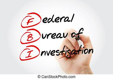 akronym, untersuchung, fbi, föderativ, -, büro