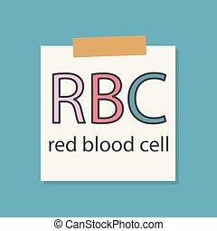 akronym, wechselbuchpapier, blut, rbc, rotes , celll