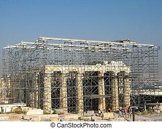 akropolis, rekonstruktion
