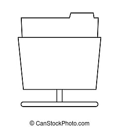grafik vektor aktenordner icon design wohnung begriff freigestellt abbildung datei. Black Bedroom Furniture Sets. Home Design Ideas