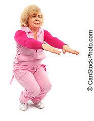 aktivál, autóbusz, hölgy, öregedő, állóképesség