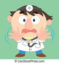 aktiv, ableugnung, doktor