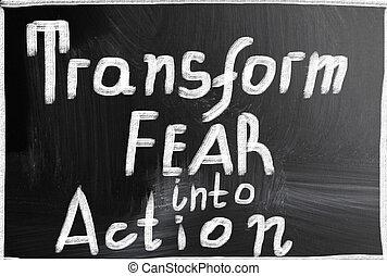 aktiv, fürchten, umformen