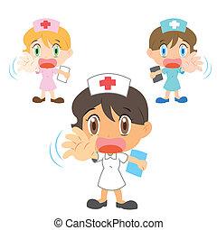 aktiv, krankenschwester, ableugnung