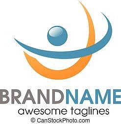 aktiv, logo, abstrakt, folk