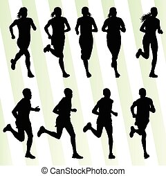 aktive, läufer, athletik, maenner, sport