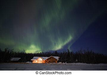 aktive, mehrfarbig, polarlicht borealis