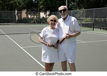 aktive senioren, schatten