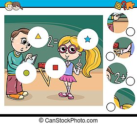 aktivität, kinder, karikatur