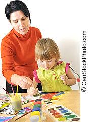 aktivitet, ind, preschool