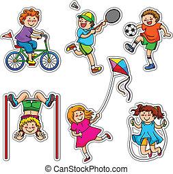 aktivní, děti