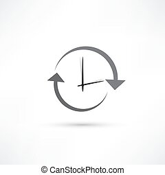 aktualisierung, zeit, ikone