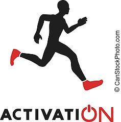 aktywacja, biegacz, wiadomość