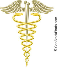 akupunktur stift, caduceus