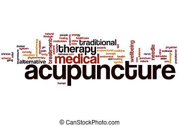 akupunktur, wort, wolke