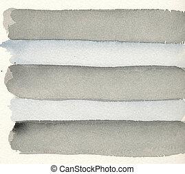 akvarell, målning, -, grå, stripes