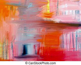 akwarela, abstrakcyjny