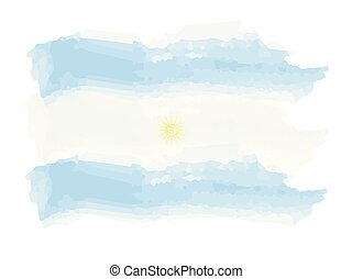 akwarela, bandera, argentyna