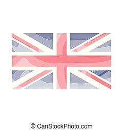 akwarela, królestwo, bandera, zjednoczony
