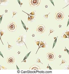 akwarela, pattern., seamless