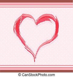 akwarela, serce, abstrakcyjny