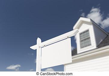 aláír, épület, tényleges, tiszta, birtok, új, elülső