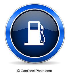 aláír, benzin, ikon, benzinkút