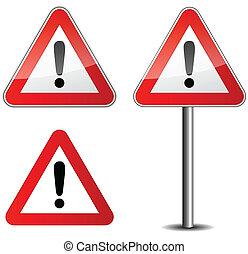 aláír, forgalom, veszély