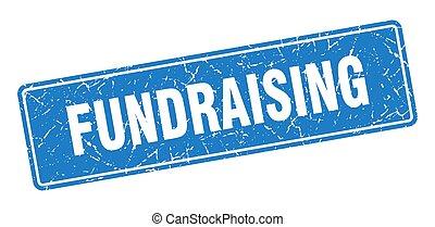 aláír, kék, label., fundraising, szüret, stamp.