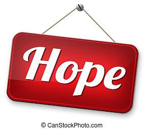 aláír, remény