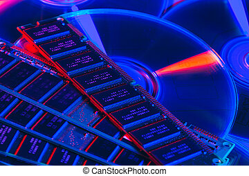 aléatoire, fin, mémoire, (ram), accès, haut, informatique
