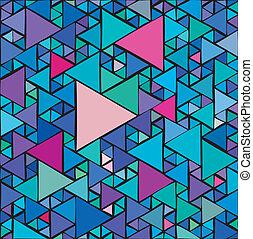 aléatoire, triangles, fond
