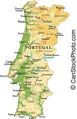 alívio, portugal, mapa