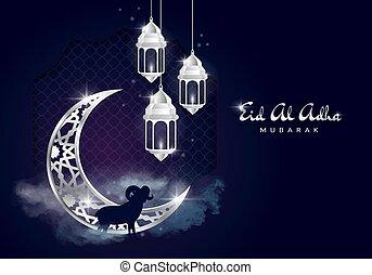 al-adha, olsun, card., bayraminiz, mubarak, banquete,...