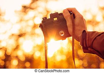 al aire libre, estilo de vida, tenencia, naturaleza, foto, ...