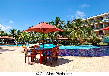 al aire libre, sri, tabla, restaurante, natación, bentota, ...