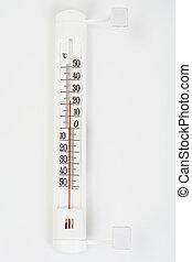 Al aire libre, termómetro