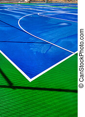 al aire libre, tribunal baloncesto